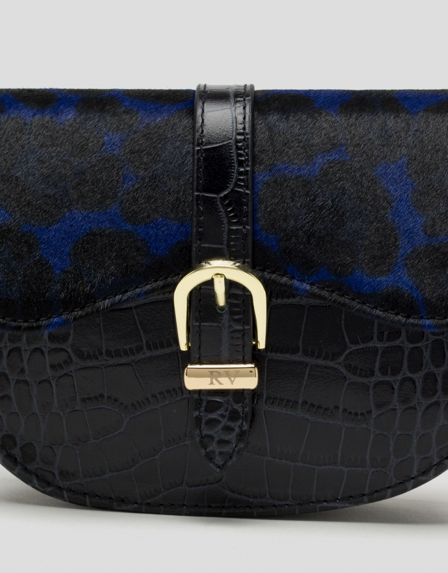Black leather Equestre fanny pack