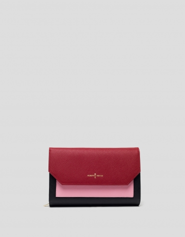 Saffiano leather Orchidees shoulder bag