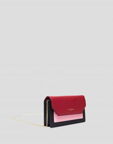 Saffiano leather Orchidees mini shoulder bag