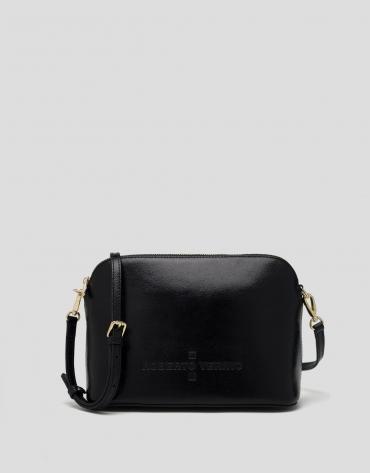Black shiny leather Glace shoulder bag