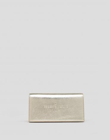 Shiny gold leather Glace mini shoulder bag
