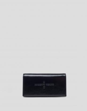Mini sac à bandoulière Glace en cuir brillant noir