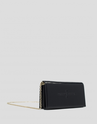 Black shiny leather Glace mini shoulder bag