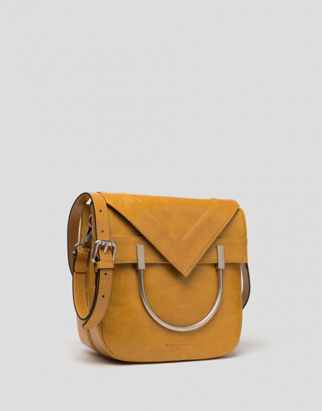 Sac Claude en cuir moutarde