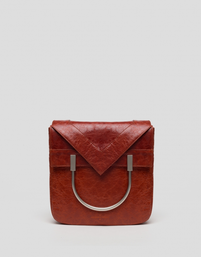 Lipstick red leather Claude bag