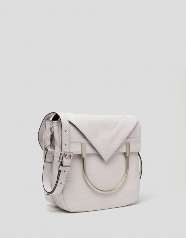 White leather Claude bag