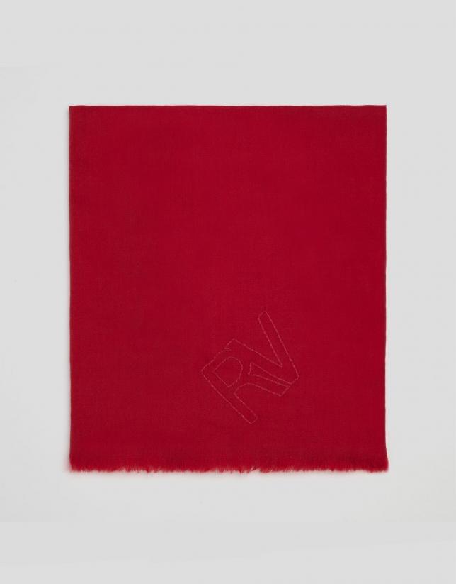 Fular lana rojo