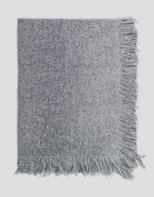 Echarpe en laine/cachemire gris