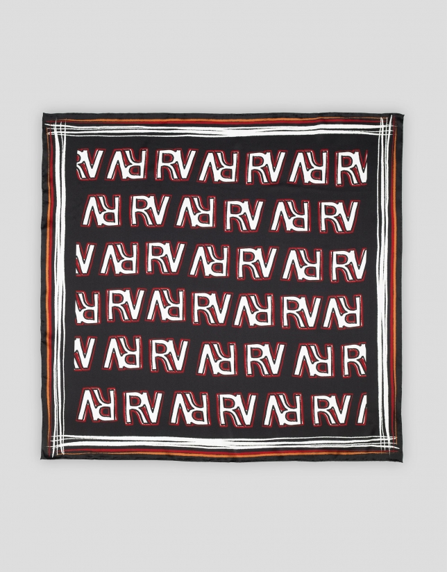 Silk scarf with RV logos