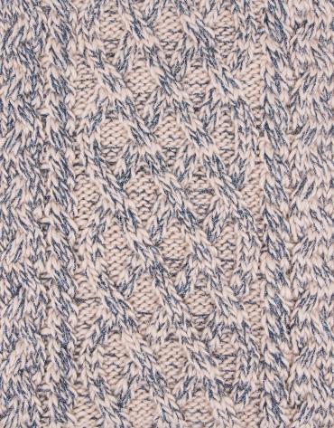 Cuello bufanda trabajado azul