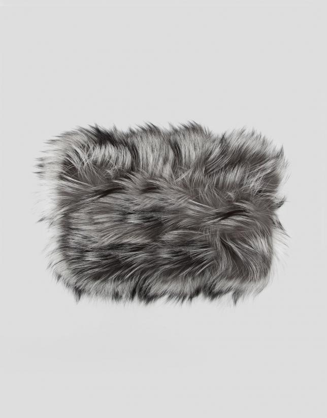 Bufanda tubular pelo plumeado natural