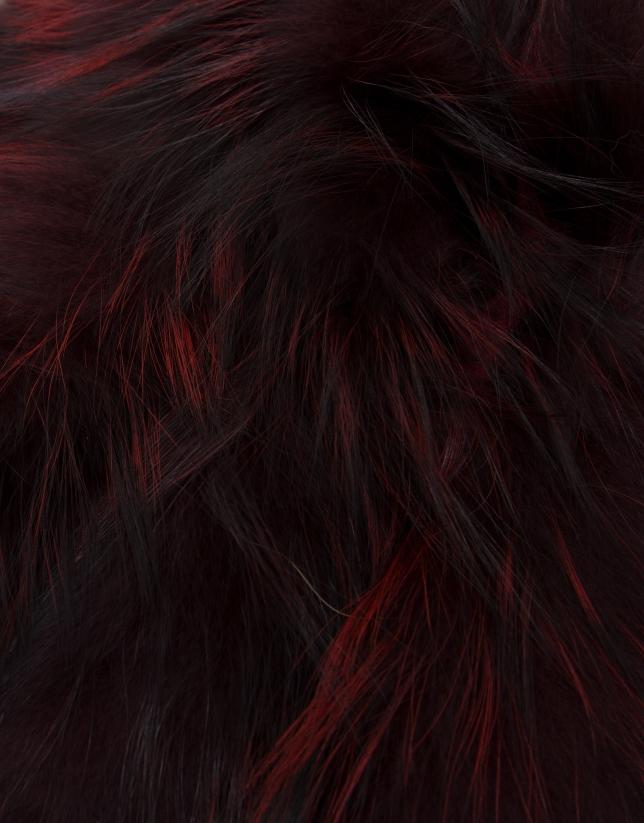 Bufanda tubular pelo plumeado burdeos