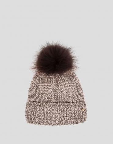 Brown knit cap