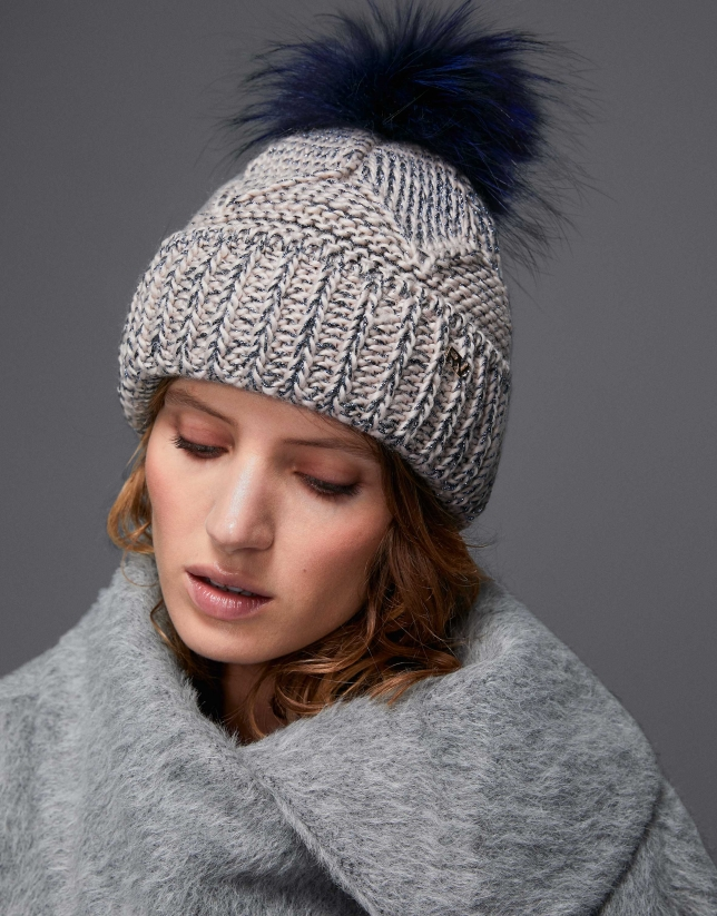 Blue knit cap