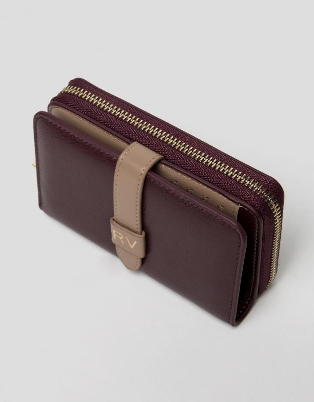 Burgundy leather wallet