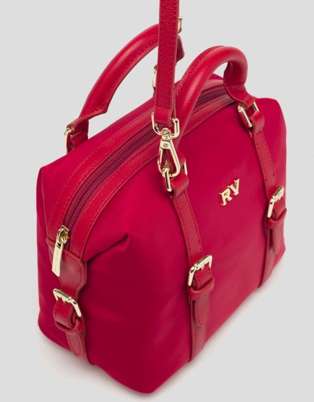Red Bora-Bora nylon mini bowling bag