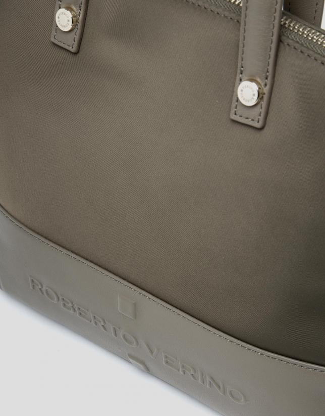 Khaki Simone midi handbag