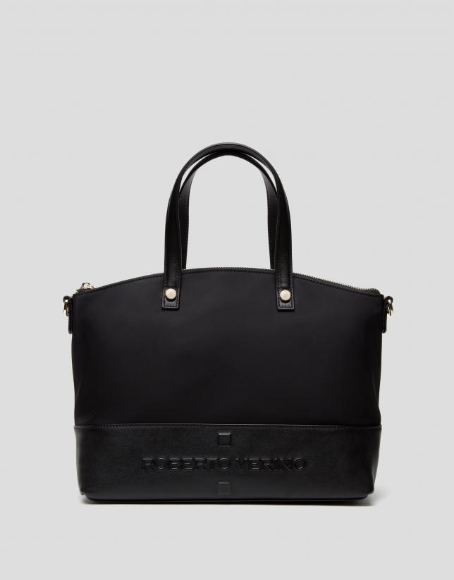 Black Simone midi handbag