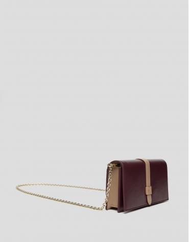 Burgundy leather Palace mini shoulder bag
