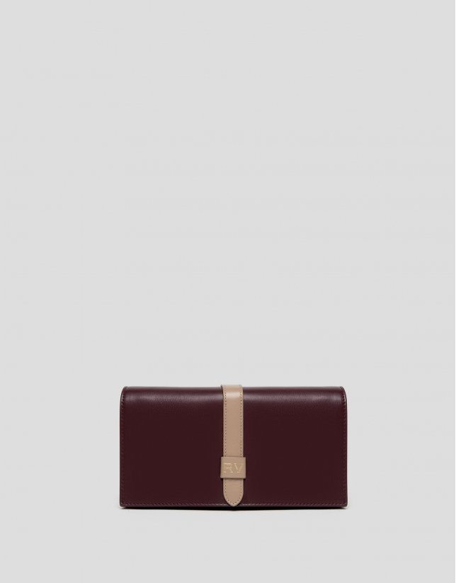 Burgundy leather Palace mini shoulder bag
