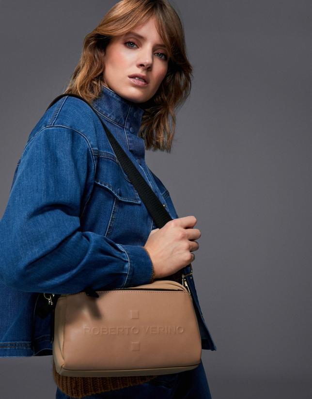 Beige Simone small shoulder bag