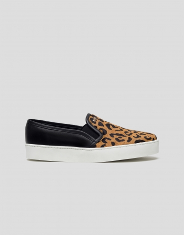 Animal print slip-ons