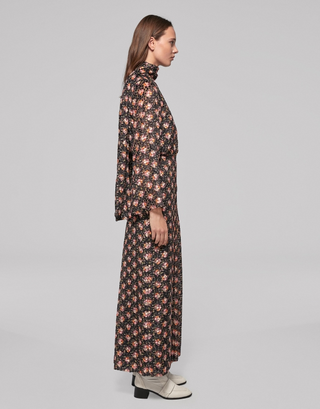 Small floral print long dress