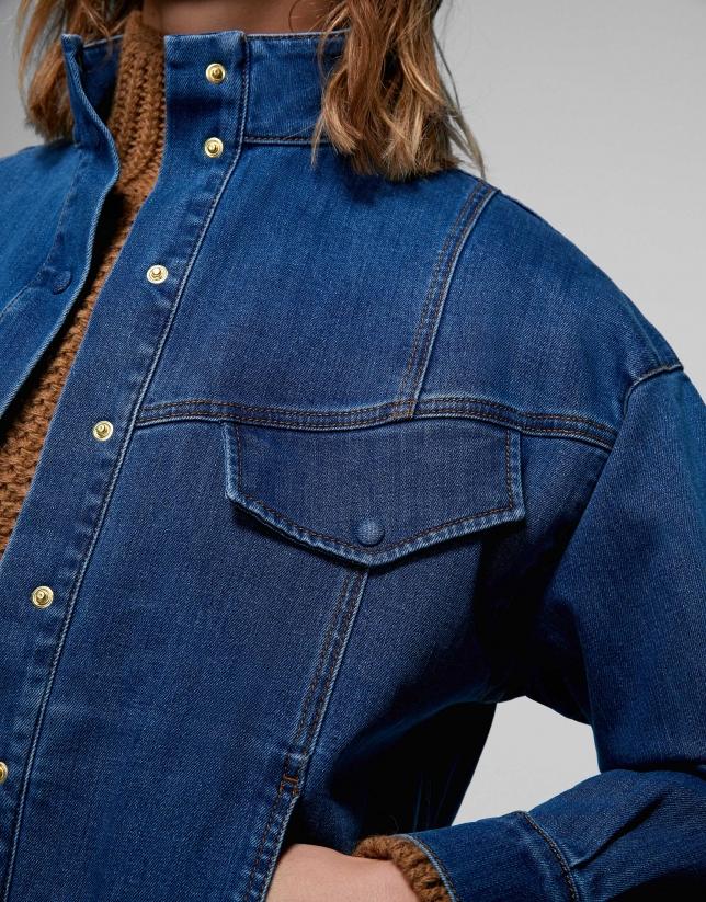 Surchemise en jean denim bleue