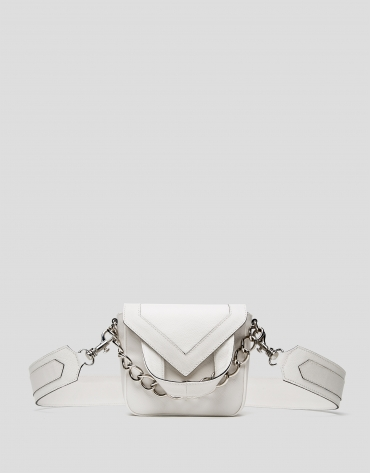 Off white, leather Claude mini shoulder bag