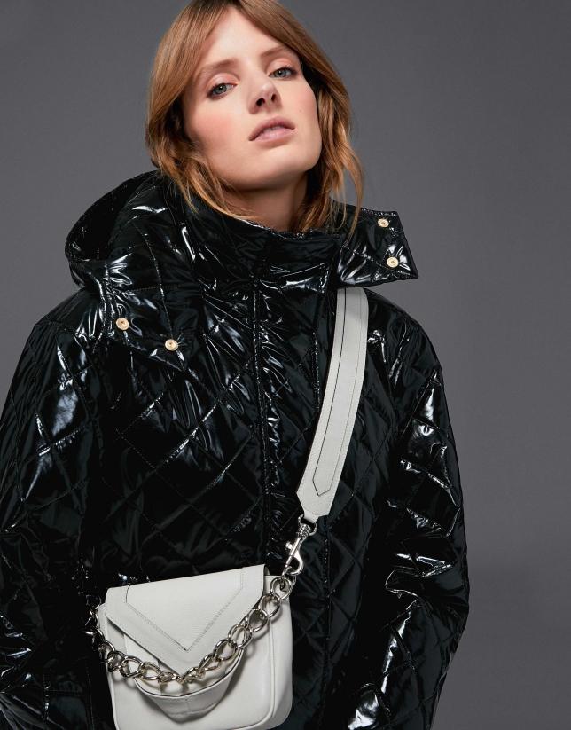 Mini sac à bandoulière Claude en cuir couleur glace