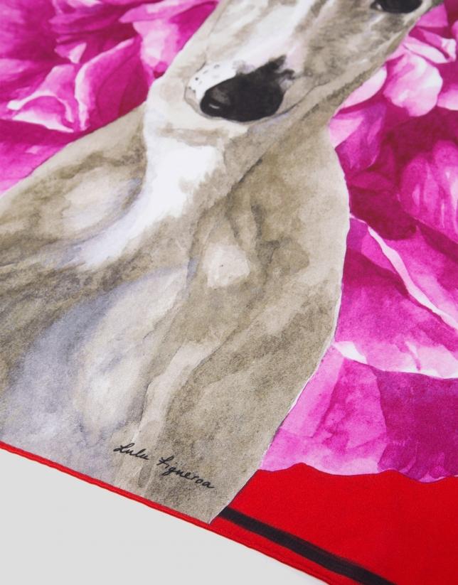 Print silk scarf by Lulú