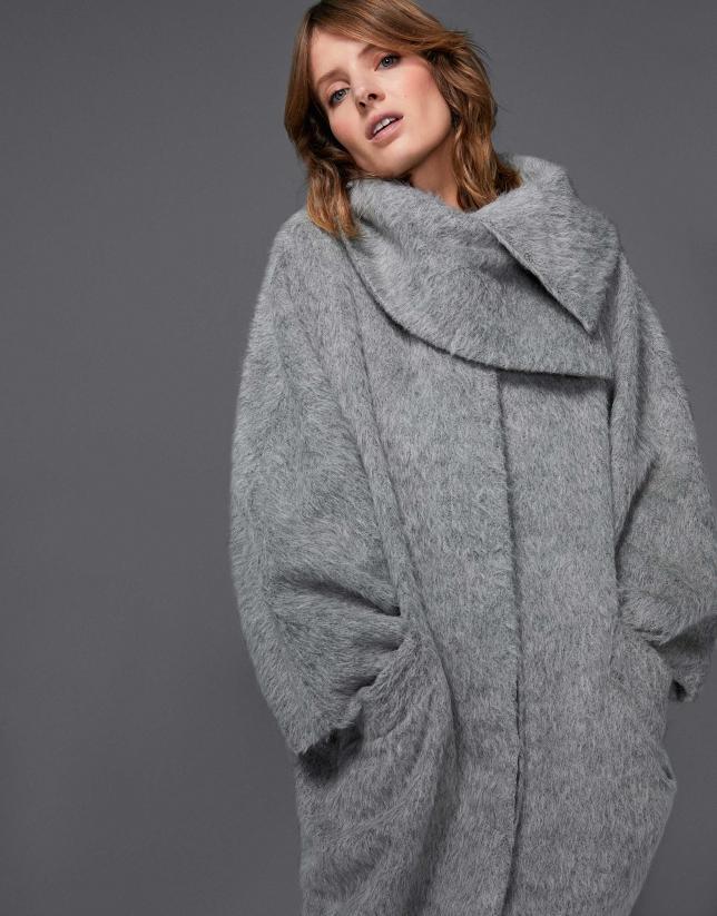 Manteau feutré couleur gris