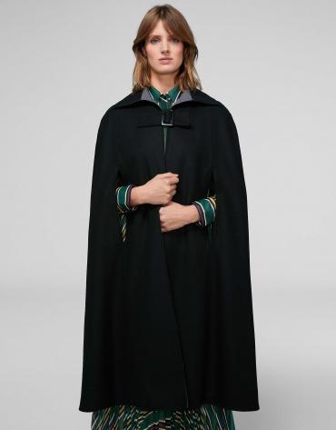 Manteau cape réversible couleur noir