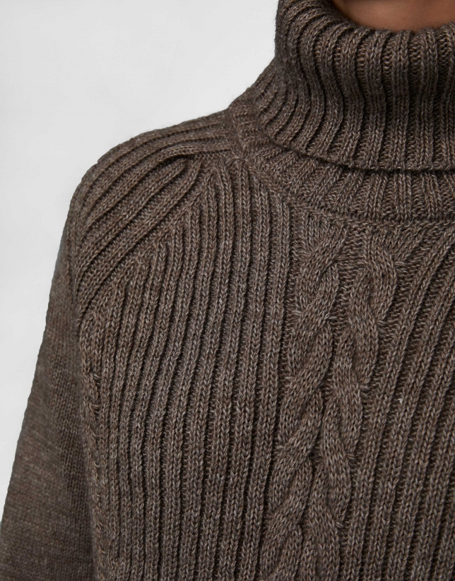 Brown oversize sweater