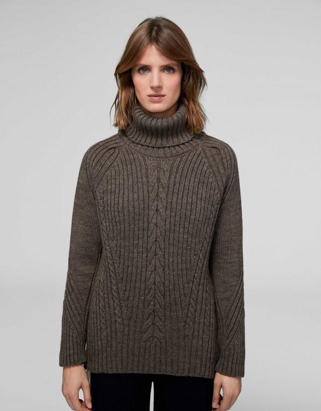 Jersey oversize marrón