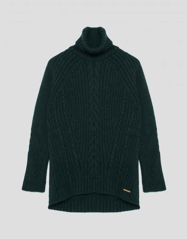 Green oversize sweater