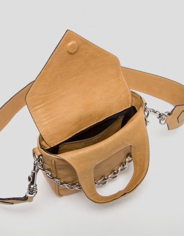 Mustard leather Claude mini shoulder bag