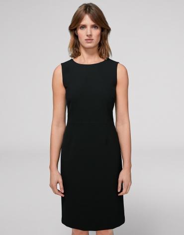 Vestido midi sin mangas negro