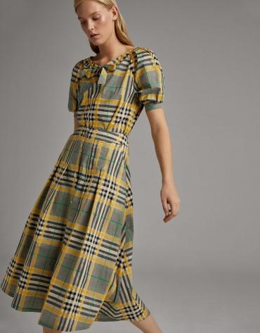 Long glen plaid skirt