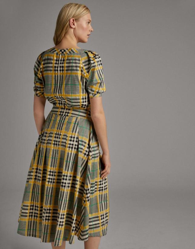 Falda larga cuadro gales