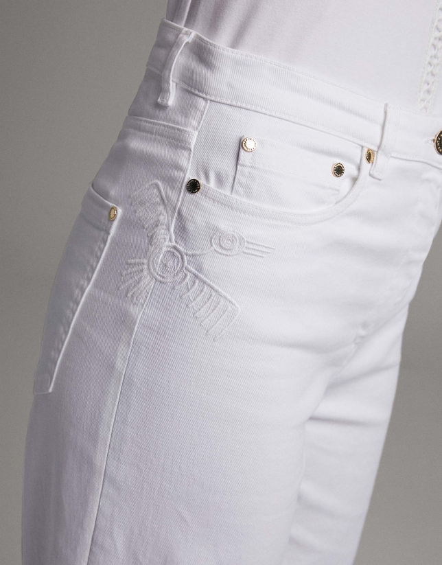 White, bell bottom jeans
