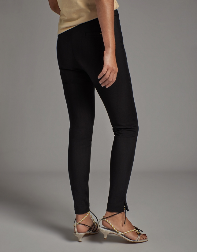 Black cigarette pants with high waist
