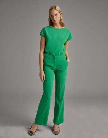 Green straight pants