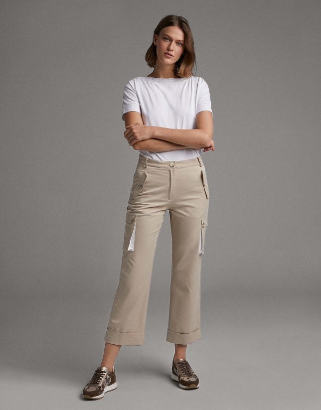 Vanilla cargo pants