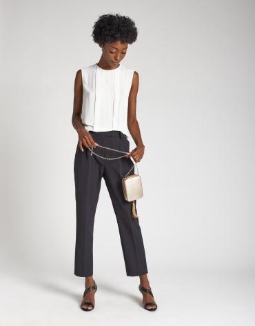Black ankle-length pants