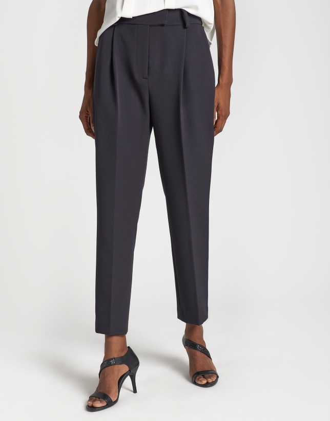 Black ankle-length pants