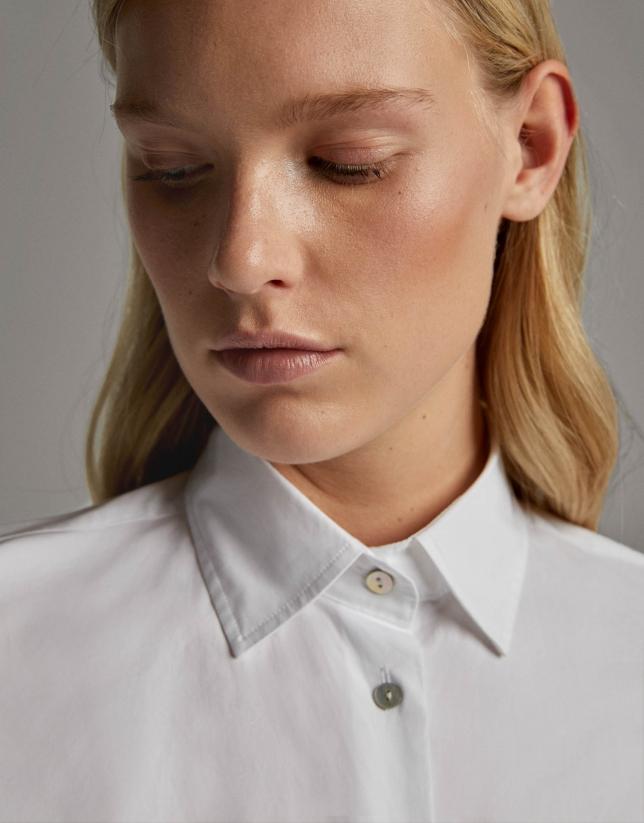 White men's shirt with pocket