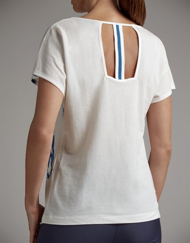Camiseta estampado mármol azul ultramar