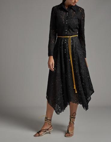 Shirtwaist dress with English embroidery