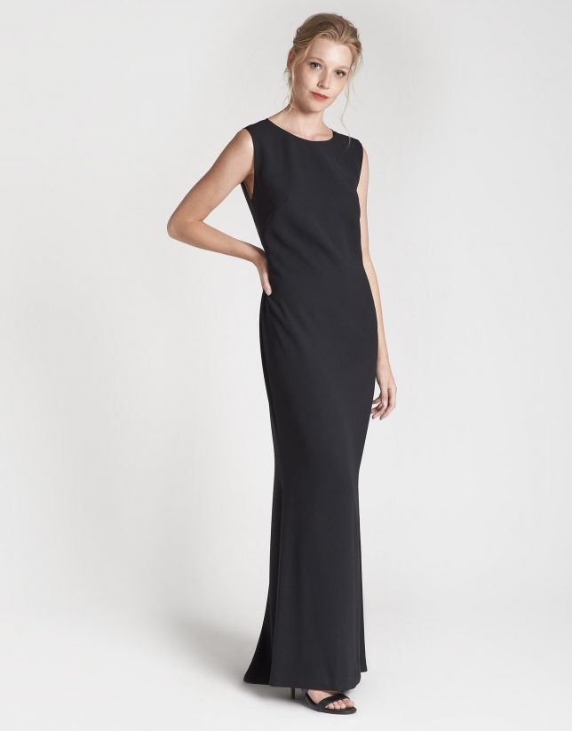 Long black party dress